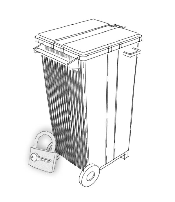 Monseu recycling : Conteneur sécurisé en location 240 LDestruction fiable. Prix très compétitifs. Adapté à vos besoins. Desctruction certifiée.