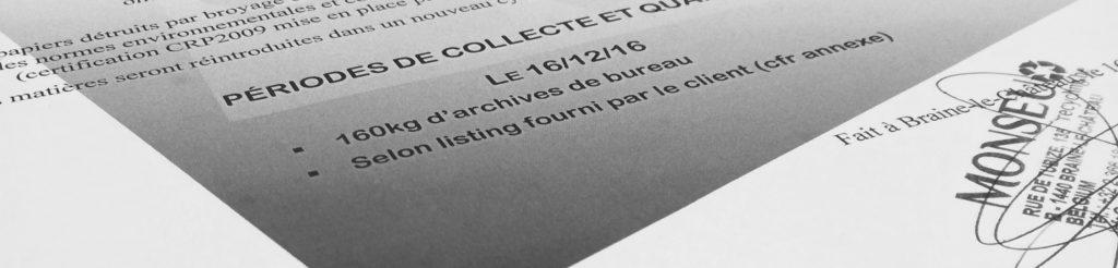 Monseu Recycling, destruction confidentielle avec remise d'un certificat