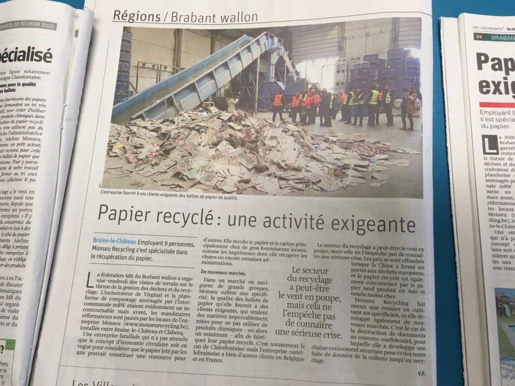 Papier recyclé, un job très spécialisé